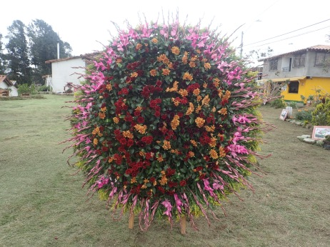 Flowers arranged by the silleteros